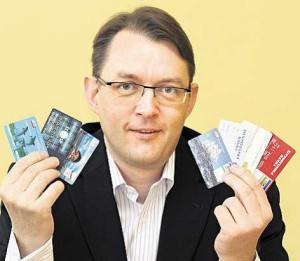 Dušan Jílek sběratel platebních karet
